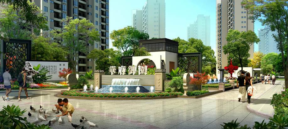 """展现""""现代建筑,中式园林,诗意栖居""""的住区特质,将成为咸阳独树一帜的图片"""